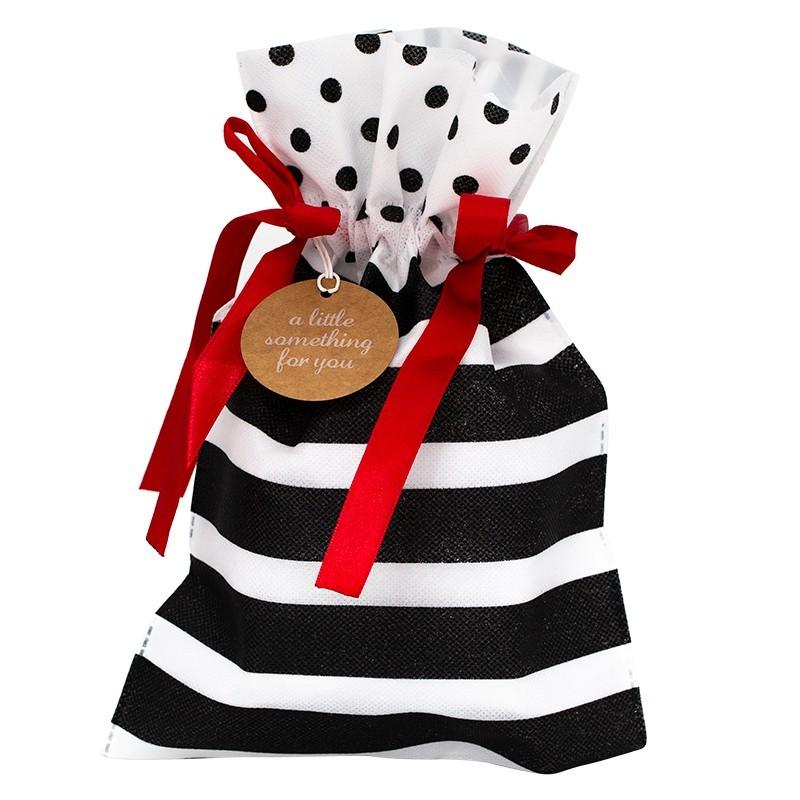 Worek prezentowy czarno-biały