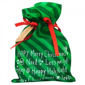 Worek prezentowy świąteczny zielony